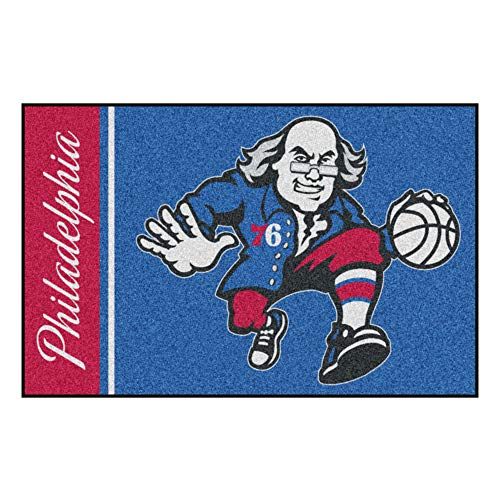 FANMATS 17925 NBA Philadelphia 76ers Uniform Inspired Starter Rug