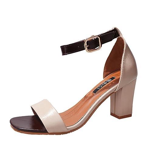 Vectry High Heels Sandalen Plateau Sandalen Damen Riemchen Offene Schuhe  Stiefeletten SchnüRen Stiefel Bequeme Plato Absatzschuhe a4391e55e5