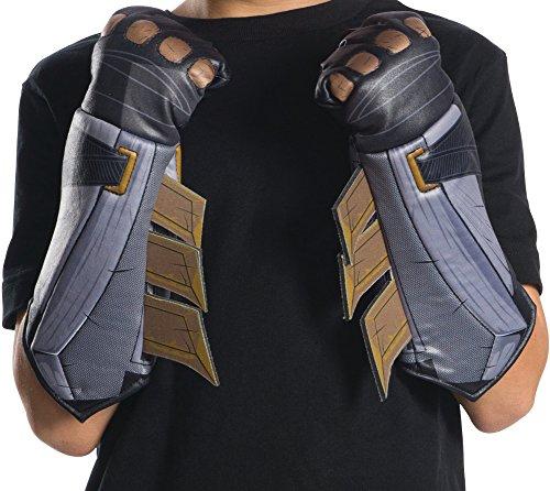 Batman Adult Gloves (Rubie's Costume Co. Men's Batman Costume Accessories, As Shown, Justice League)