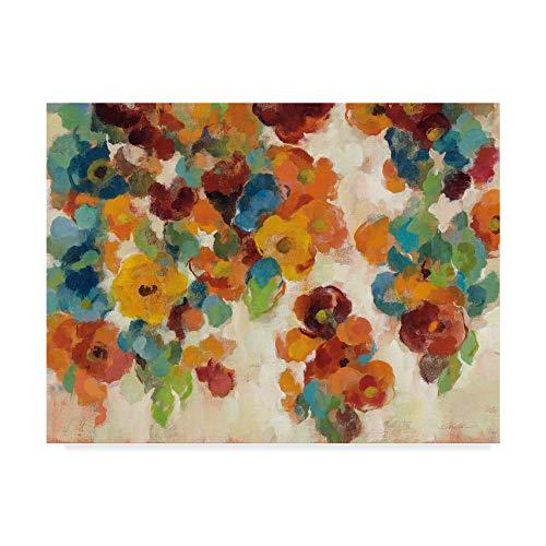 Trademark Fine Art Spice and Turquoise Florals by Silvia Vassileva, 35x47-Inch Fine Art, Multicolor from Trademark Fine Art