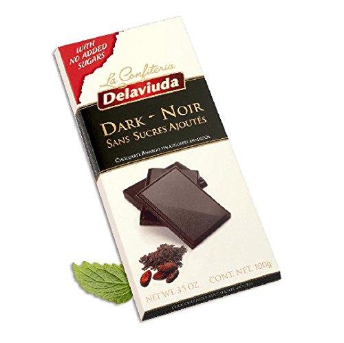 DELAVIUDA - NO ADDED SUGARS - Dark Chocolate 51% - 100gr/3.52oz bar (8 bars PACK) ()