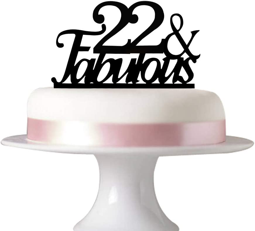 Stupendous Amazon Com 22 Fabulous Cake Topper For 22Nd Birthday Party Personalised Birthday Cards Sponlily Jamesorg