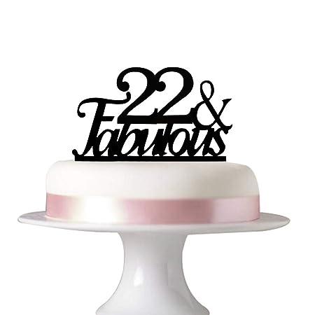 22 fabulosas decoraciones para tartas de 22 cumpleaños ...