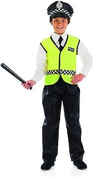 Fun Shack Negro Oficial De Policía Disfraz para Niños y Niñas - M ...