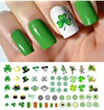 "St. Patricks Day Luck of The Irish Assortment Water Slide Nail Art Decals - Salon Quality 5.5"" X 3"" Sheet!"