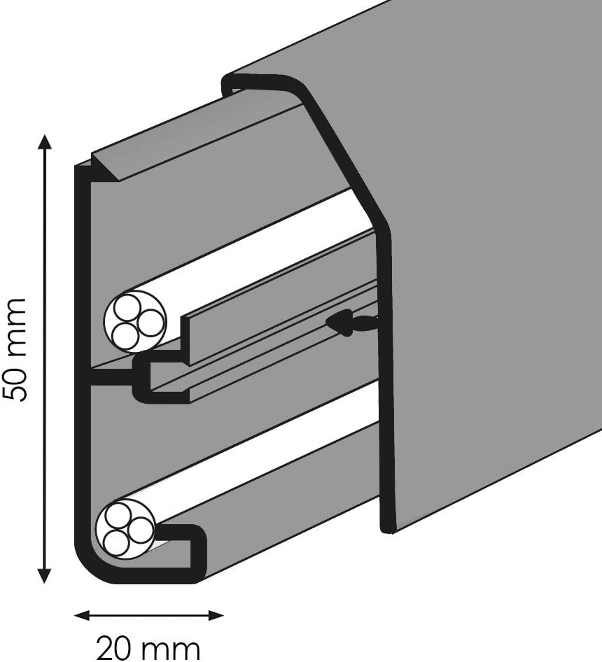 Kabelkanal Sockelleiste//Fu/ßbodenleiste in 6 Dekoren Wei/ß, 20m