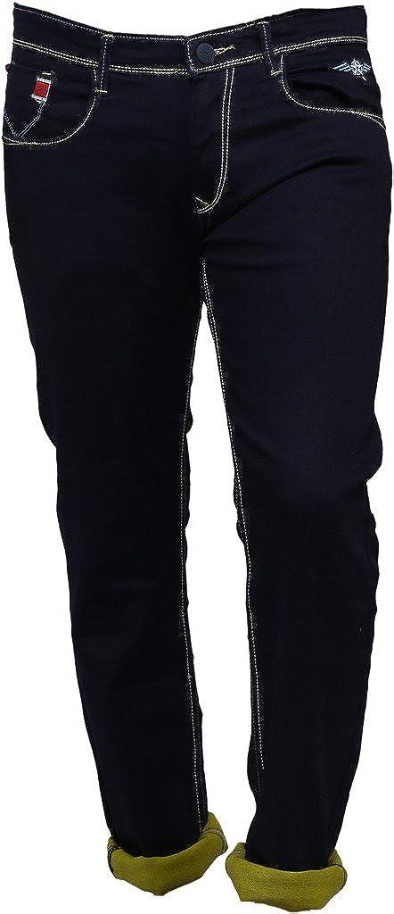 70b1592d Nostrum Jeans Men's Dark Blue Slim Fit Jeans: Amazon.in: Clothing &  Accessories