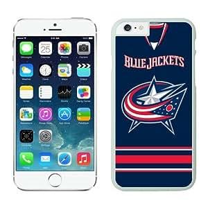 Columbus Blue Jackets iPhone 6 Plus Cases NHL 4 White NHLW12971 by heywan