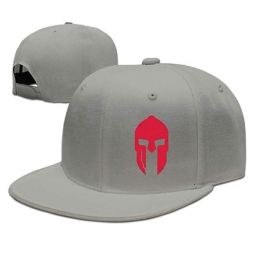 81e0a1eac9b Spartan Baseball Cap Flat Bill Hat Snapback Hats at Amazon Men s Clothing  store
