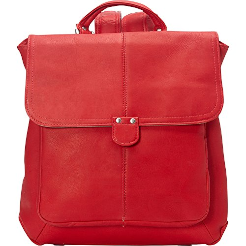 le-donne-leather-saddle-backpack-red