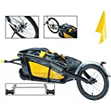 Topeak Journey Trailer Aluminum Main Frame Water Proof Drybag with Rear wheel, Rear Fender and Flag