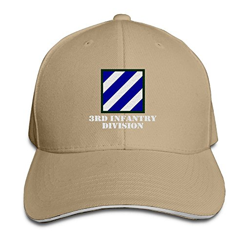 Cap Sandwich Unstructured - ETACAP Army 3rd Infantry Division Embroidery Baseball Hat Sandwich Bill Cap Unstructured Hat