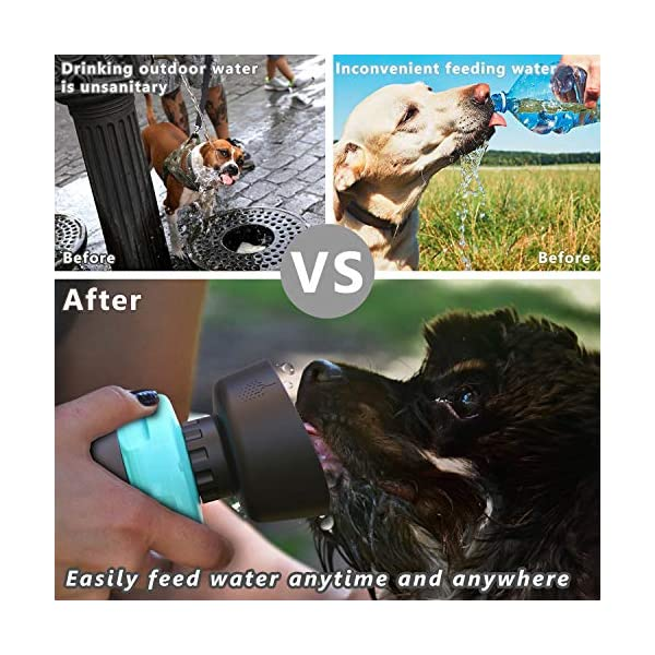 lesotc Pet Water Bottle for Dogs, Dog Water Bottle Foldable, Dog Travel Water Bottle, Dog Water Dispenser, Lightweight & Convenient for Travel BPA Free 18 OZ. 6