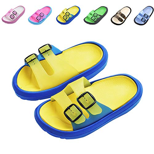 Toddler Little Kids Summer Sandals Non-Slip Boy Girl Slide Lightweight Beach Water Shoes Shower Pool Slippers (Little Kid 10.5-11M, -