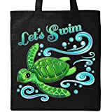 Inktastic - Lets Swim- cute sea turtle Tote Bag Black 2e781