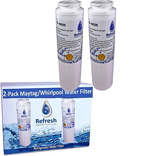 2 x Refresh UKF8001 Replacement for Maytag PUR FILTER 4 - EDR4RXD1, UKF8001AXX-750, Whirlpool Everydrop Filter 4, 4396395, PuriClean II, and Kenmore Filters 469006, 46 9006, 9006