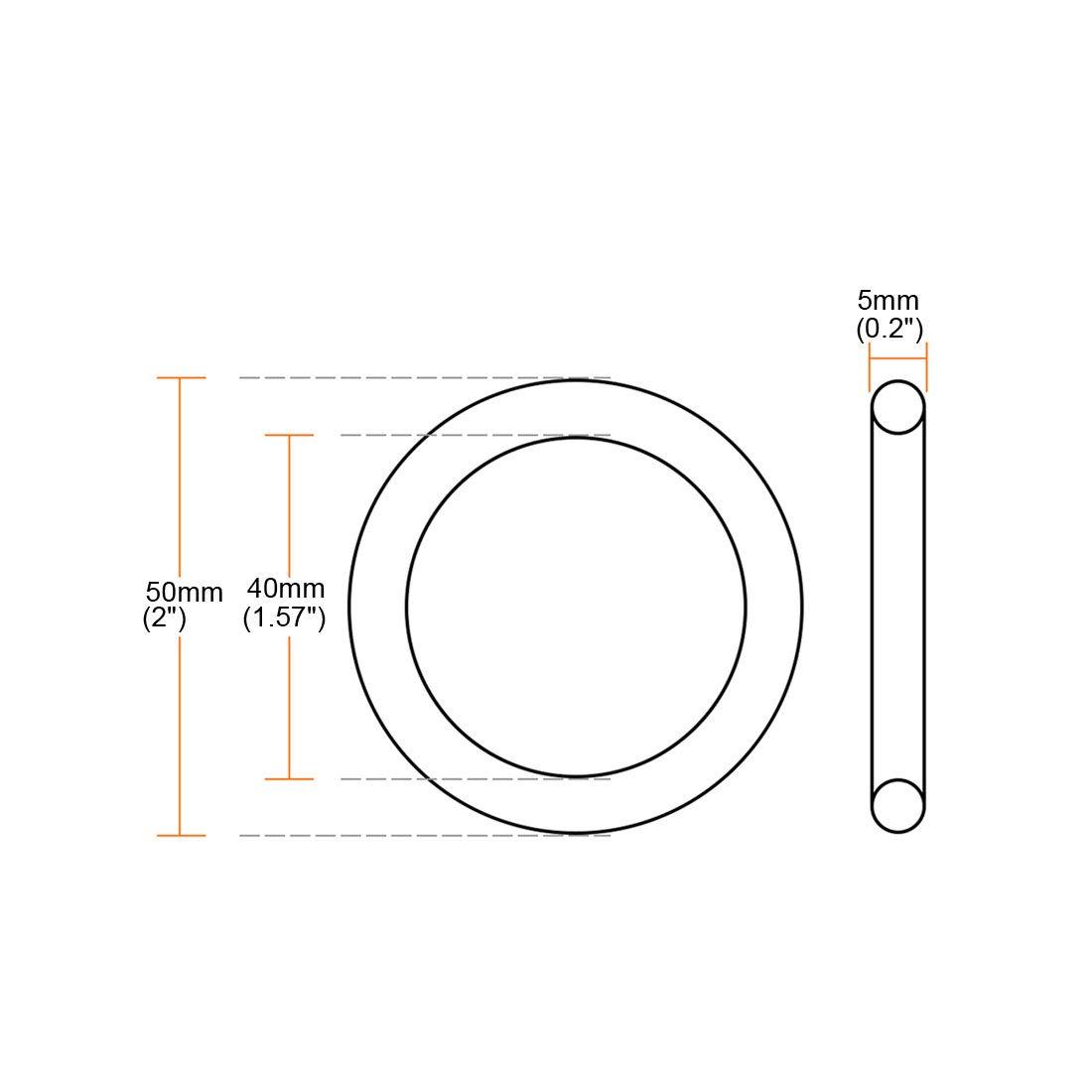 sourcing map 2 St/ücke Mehr-Zweck Blech 31mm x 25mm x 3mm Hardware Tasches Ring DIY Zubeh/ör de