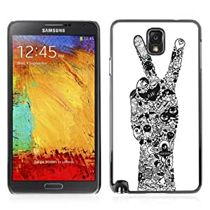 Designer Depo Hard Protection Case for Samsung Galaxy Note 3 N9000 / Cool Peace Hand Tattoo Art