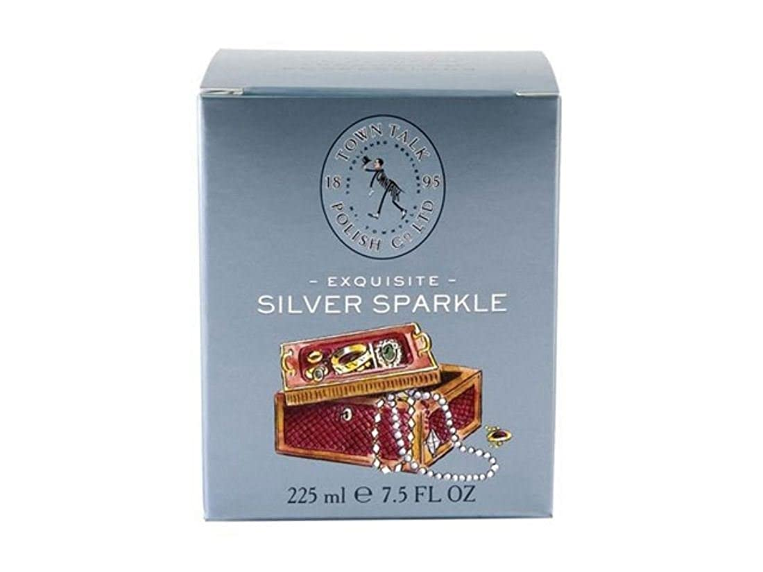 Town Talk Silver Sparkle Jewellery Care Cleaning Kit Cleaner Tub Brush Cloth