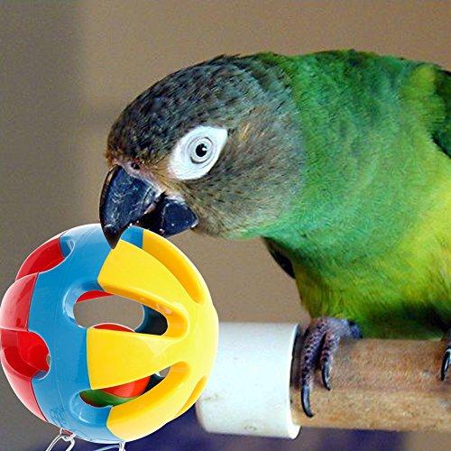 NNDA CO Pet Bird Bites Toys Parrot Chew Ball Swing Cage Hanging Cockatiel Parakeet Chain,7.5cm/2.95inch, 1 Pc (Cockatiels Bird Toys)