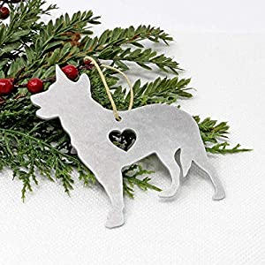 Australian Blue Heeler Metal Ornament Gifts Christmas Tree Holiday Party Decorations Home Decor 1