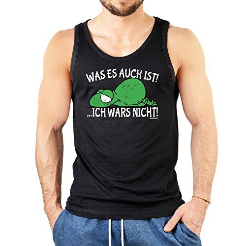 super Figur mit coolem Herren Tank-Top Farbe: schwarz : + WAS ES AUCH IST! ...+