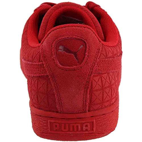 Puma Suede Sul Rosso In Pelle Scamosciata Alto Rischio / Bianco