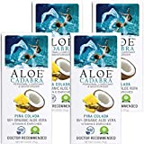 Aloe Cadabra Personal Pleasure Lubricant & Best Natural Moisturizer Lube, Edible Flavored - Pina Colada, 2.5 Ounce (Pack of 4)