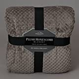 Honeycomb Shimmersoft Berkshire Blanket Desert Taupe Full/Queen