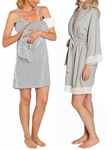 Angel Maternity Hospital Pack Nursing Dress Hospital Robe +