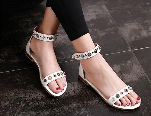 Sandali da strass 2 tondi KUKI donna Bdzww