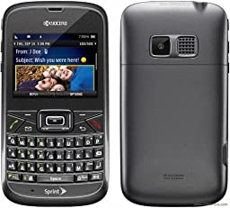 Kyocera Brio S3015 Sprint CDMA Phone with Full QWERTY Keyboard, 1.3MP Camera and Bluetooth v2.0 - Gray