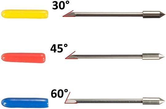 Zeagro - Soporte para Cuchilla con 18 Cuchillas de Corte (30/45/60 Grados) para Silhouette Cameo 1 2 3/Portrait/Curio/Graphtec 6000/CE 5000-60 Plotter: Amazon.es: Hogar