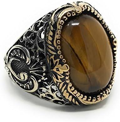 turkish jewelryhandmade jewelry, mens ring,yemen agate  rings,mens gift,father gift mens gift men jewelry
