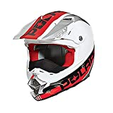 OEM Polaris Fly F2 Carbon Fiber Helmet Breath Deflector Quick Snap Liner XS-5XL - White/Red - XXX-Large