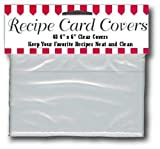 BigKitchen - Clear Vinyl 4 x 6 Inch Recipe Card Covers, Set of 48