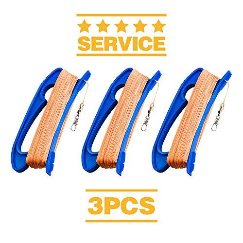 Kite Handle with Line, 300ft Durable String and Connector Ready, 3 pcs (Strings Connector)