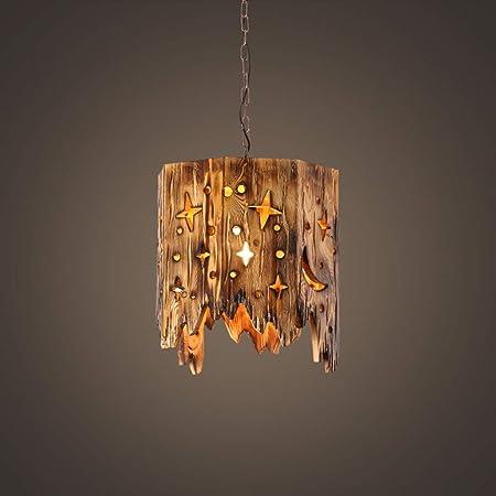 Pendellampe Design Hängeleuchte Ess Wohn Schlaf Zimmer Küchen Lampe Vintage Holz