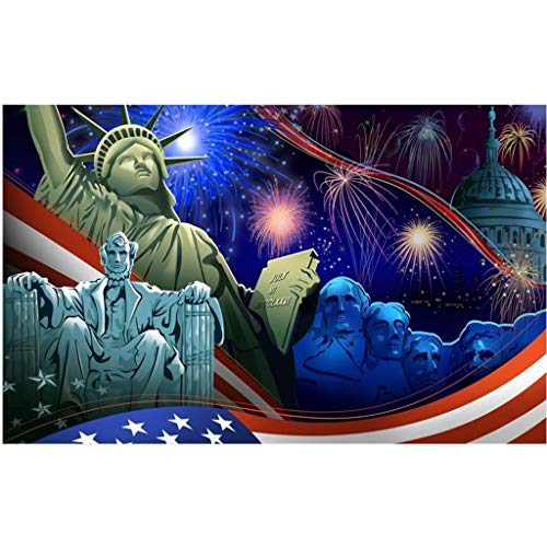 iBOXO 5D DIY Diamond Painting Kits Independence Day Embroidery Round Diamond Paintings Pictures Arts Home Wall - Stained Finish Cherry American