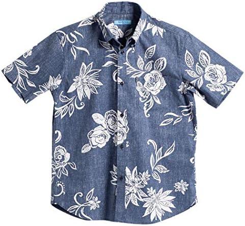 [MAJUN (マジュン)] 国産シャツ かりゆしウェア アロハシャツ 結婚式 メンズ 半袖シャツ ボタンダウン でいごゆうな