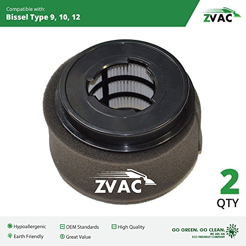 2 Bissell Style 9/10/12 PowerForce Inner and Outer Circular Filter Set 32064 By ZVac