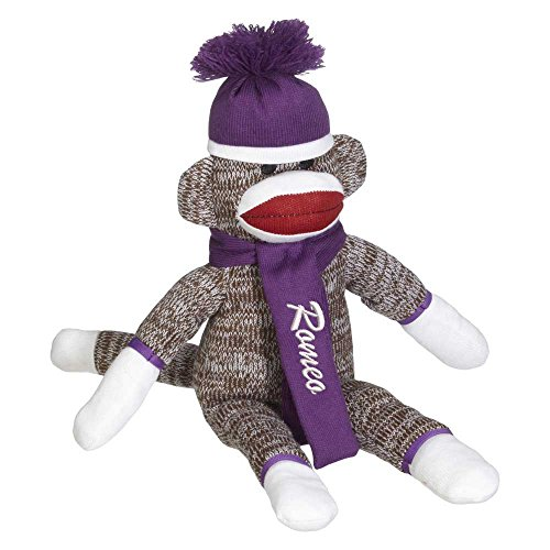 Personalized Sock Monkey Embroidered Name Girls Christmas Gift