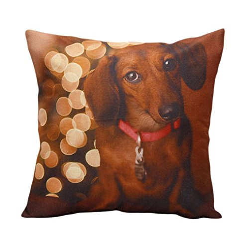 Pillow Cases ,IEason Clearance Sale! Christmas Moetry Dog Sofa Bed Home Decoration Festival Pillow Case Cushion Cover (Decorations Sale Christmas Clearance)