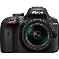 Nikon D3400 Digital SLR Camera & 18-55mm VR DX AF-P Zoom Lens (Black) - (Certified Refurbished) from Nikon