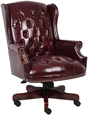 Pleasing Boss Office Products B800 By Wingback Traditional Chair In Burgundy Pdpeps Interior Chair Design Pdpepsorg