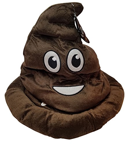 Emoticon-Light-Up-Emoji-Poop-Hat-Plush-Head-Wear-12-Inches-High-by-with-non-negotable-Million-Dollar-Bill-Imprints-Plus