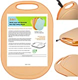 Kylermade (5 Layers) Multi-Layer Anti-Bacterial Non-Slip Cutting Board, Innovative 5 layered construction, 5 Kitchen Chopping Boards for Price of 1, BPA Free, Dishwasher Safe, Juice Grooves, Orange