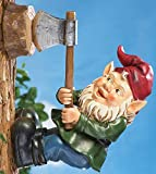 Cheap Wood Chopping Tree Gnome Decoration