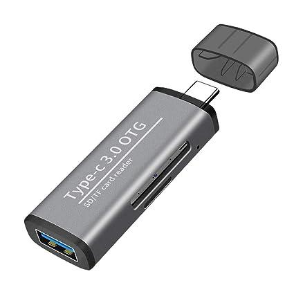 A0127 - Lector de Tarjetas Adaptador OTG Tipo C a USB 3.0 ...
