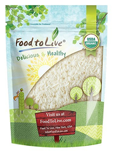 Organic Jasmine Rice by Food to Live (Raw White Rice, Whole Grain, Non-GMO, Kosher, Bulk, Product of the USA) - 3 Pounds